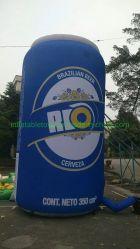 Latta di birra gonfiabile gigante di evento per gli eventi con il formato personalizzato