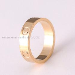 簡単な銅のリングのチャーミングなリングの宝石類