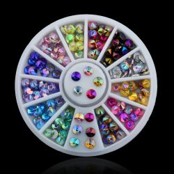 Cor Ab coloridos pedras de cristais cintilantes Rhinestones para pistolas de Art