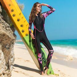 2019 Afgedrukt In te ademen het Surfen van Lycra van de Wacht van de Sport Onbesuisd Kostuum voor het Zwemmen voor Vrouwen
