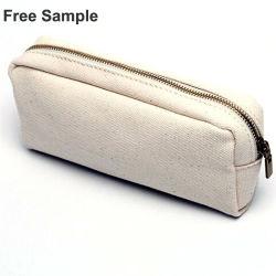 Escuela de promoción Zippler lienzo cierre bolsa de cosméticos Bolsa Bolsa de pen lápiz