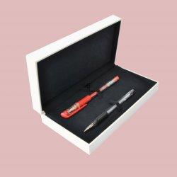 Description de la production :personnalisé papieren plastique de bijoux de fantaisie de luxe Double affichage de l'emballage de stockage de stylos boîte cadeau
