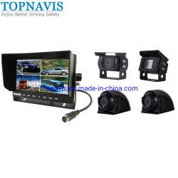 7 de Monitor van de Vierling van de duim met Camera 4 voor Vrachtwagen/Tractor/het Voertuig/de Bus/de Aanhangwagen van de Mijnbouw