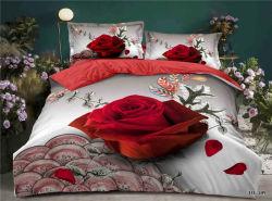 La literie Nantong Accueil fournisseur en gros 3D Bedsheet imprimé le linge de lit