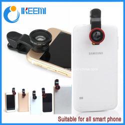Широкоугольный, макро и Fish Eye мобильного телефона наведите объектив камеры
