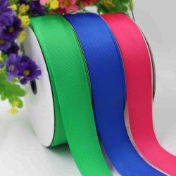 Bräutlicher elastischer Polyester-Satingrosgrain-Organza-Silk Farbband für Kleider, Geschenke, Beutel und Kleid-Zubehör-thermisches Übergangsfarbband (Byr100001)