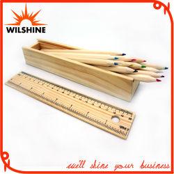 7 ' خشبيّة لون قلم مع مسطرة غطاء لأنّ هبة ([مب0013])