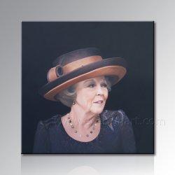 女性の肖像画のキャンバスの油絵