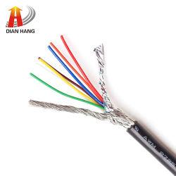 30V Awm UL2725 차폐형 제어 케이블 전원 USB 전자 케이블 와이어 PVC 구리 전자 와이어 데이터 플렉시블 전기 구리 와이어
