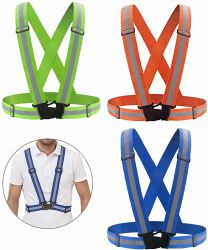 Adjustable Strap를 가진 사려깊은 Night Vest & Breathable Holes, Running Jogging Cycling Esg13123를 위한 Ultrathin Lightweight Safety Vest High Visibility
