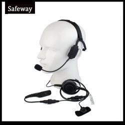 Militares de Condução Óssea Fone de ouvido para a Motorola Walkie Talkie Xirp8628