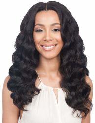 Hot la vente de 26 pouces blonde africains d'onde lâche Synthetic Full Lace perruque de cheveux vierges pour les femmes noires