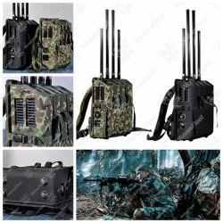 Manpack RF 신호 지적인 넓은 주파수 방해기