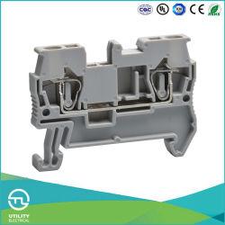 Utl 2 conductores Primavera borne para carril DIN Conector de 2,5 mm2