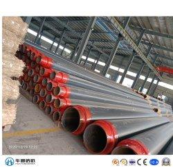 Thermische Isolierungs-Stahlrohr Withpolyurethane Tiefbauschaumgummi und HDPE Umhüllung für gekühltes Wasser-Gasöl-Projekt