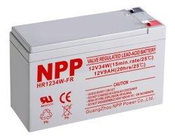 Npp Hr1234W 12V 34W (15min. 1.67V/세포) 유지 보수가 필요 없는 고가 재충전용 지도 산성 UPS 건전지를 평가하십시오