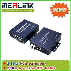 200m 1 bis 2 Ergänzung VGA-+Audio durch Cat5e