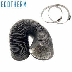La ventilación de HVAC de 25 pies 6 pulgadas de aluminio de tubo de aluminio Non-Insulated ventilación conducto flexible