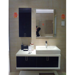 Oppein White 및 Black Melamine 욕실 콤보 캐비닛