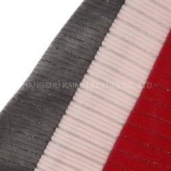 5*1 Metallic Polyester Spandex Stripe Velvet Velour stof voor Garment