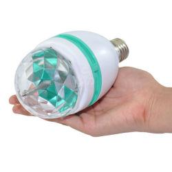 Commerce de gros Mini lampe de couleur RVB Rotation 3W E27/B22 phase effet parti DJ Light lumière cristalline