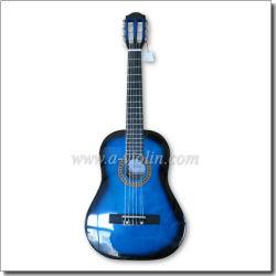Instrumentos musicales colorido Linden de madera contrachapada de principiante de guitarra clásica (AC30).