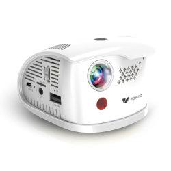 Projecteur portable LED Wowoto connecté avec la carte de TF et périphériques mémoire USB, meilleur cadeau pour enfants/enfants (Q1)
