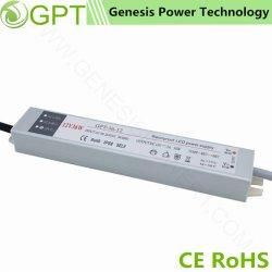 細いIP67を切替える36W 12V 24VはLEDドライバー、一定した電圧AC DCの単一の出力LED照明電源ドライバーを防水する
