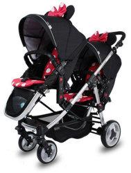 Neuer Entwurfs-verwanzter doppelter DoppelSpaziergänger für zwei Baby-Träger