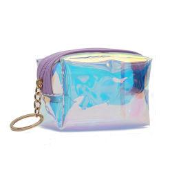 Fashion Lady Mesdames de l'été coloré Mini Sacoche à glissière TPU Sac cosmétique