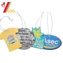 昇進のギフト(YB-AF-79)のための熱い販売の長続きがするにおいのカスタムロゴハング車のアクセサリのペーパー芳香剤