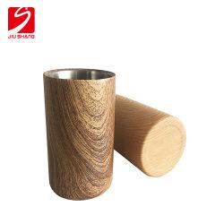 Novo Design Padrão de madeira balde de gelo Cerveja de parede dupla para bar
