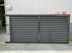 Puder beschichteter beschichteter Aluminiumluftschlitz-Zaun hergestellt vom Aluminiumstrangpresßling-Profil