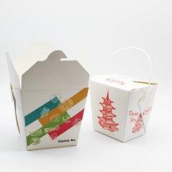 Fast Food забирать упаковке рисовая лапша площади в салоне с помощью рукоятки