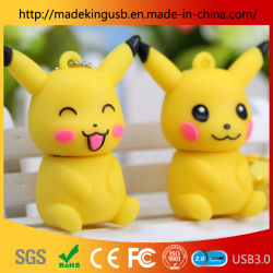 USB de PVC creativo promoción personalizada Pikachu Don U disco/USB Flash Drive Momery