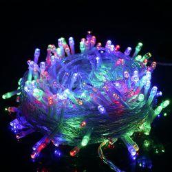 10m 100Многоцветные светодиоды Xmas Елочные свадебное оформление дома светодиодный индикатор строки