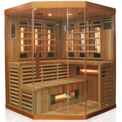 Stanza asciutta di sauna fatta del cedro del Canada con il riscaldatore di ceramica