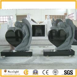 Angel и дважды в форме сердца Гранитные памятники Мемориал Tombstone