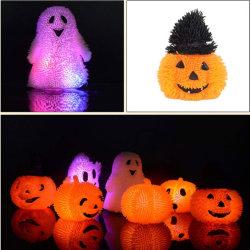 Тыквы шарик загорается мигающим светом заостренный Комплект шарового шарнира Хэллоуин игрушка