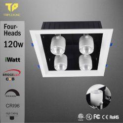 La griglia dell'indicatore luminoso LED di impresa del quadrato del soffitto messa PANNOCCHIA calda delle teste del nuovo prodotto Ra>96 112With120With160W quattro giù si illumina