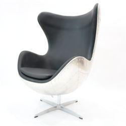 Arne Jacobsen reproducción silla Huevo con el aluminio Volver