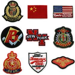 Venda por grosso nos personalizados Pavilhão da Polícia Militar Hat Chenille uniformes Bordados Patches artesanais Engrenagem Táctico Navy Garment Applique Suprimentos calças de ganga crachás jaqueta