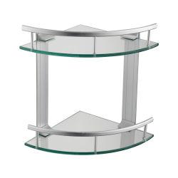Luolin - risparmiatore in cremagliera di vetro della stanza da bagno della mensola di vetro futura del doppio, mensola d'angolo dell'acquazzone del triangolo della cremagliera, cassetto dell'organizzatore del bagno del carrello dell'acquazzone, 22225
