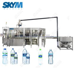 Acqua minerale/pura intestata multipla che elabora la linea di produzione acqua potabile/del macchinario/imballaggio di riempimento del liquido che ricopre producendo riga