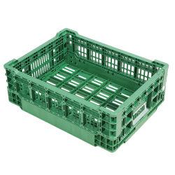 Contenedor de almacenamiento de supermercado apilables plegables de plástico plegables de la caja de frutas verduras
