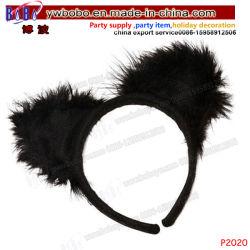 党項目ヘアケア製品のヘッドバンドの女性のHalloweenのデザインの凝った服猫耳Hairband (P2020)
