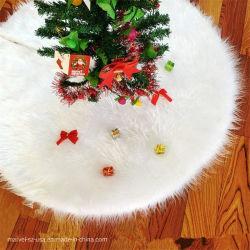 Decorazione bianca di nuovo anno della moquette della pelliccia dell'albero del mestiere di natale della peluche