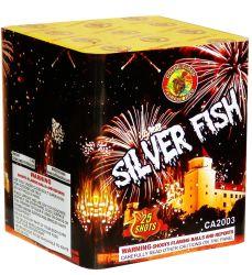 """1 """" silberne 25s Fischfrikadelle-Feuerwerke (CA2003)"""