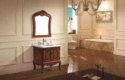 旧式なデザインゴム製木Single Basin 浴室の虚栄心