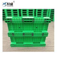 منصة بلاستيكية صلبة مقاس 1200*1000 مم مع 8 قضبان من الفولاذ استخدام تخزين المستودع في التخزين